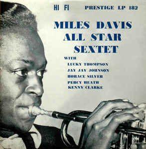 miles davis all star sextet - 10 inch' album prestige prlp 182 (1954)