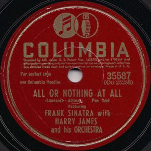 frank sinatra & harry james orchestra - single 1943