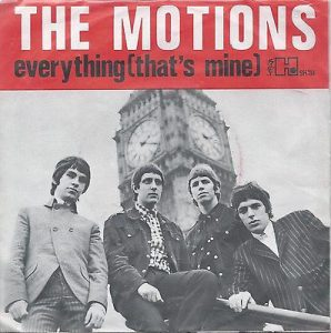 the motions - 6e single 1966 - everything (that;s mine)