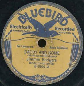 jimmie rodgers sr. - single: bluebird (1935)